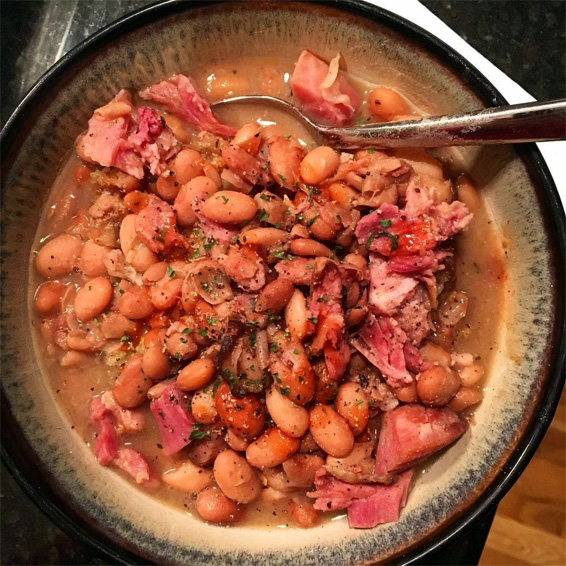 Smoky Ham and Bean Soup
